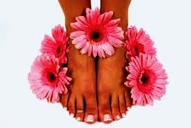 Pedicure voet met bloem 2